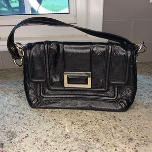 Banana Republic Black Leather Shoulder Bag Buckle